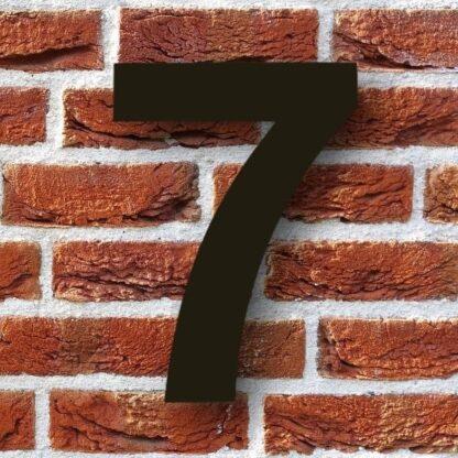 huisnummer 7 zwart rvs staal modern 15cm 20cm