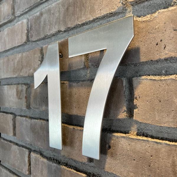 huisnummer roestvast staal