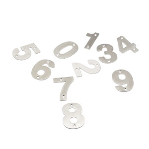 Klein Huisnummer / Deurnummer RVS 7,5cm