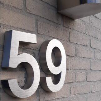 3d huisnummer rvs voorbeeld
