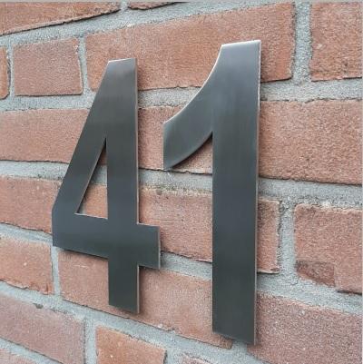 huisnummer rvs zilver