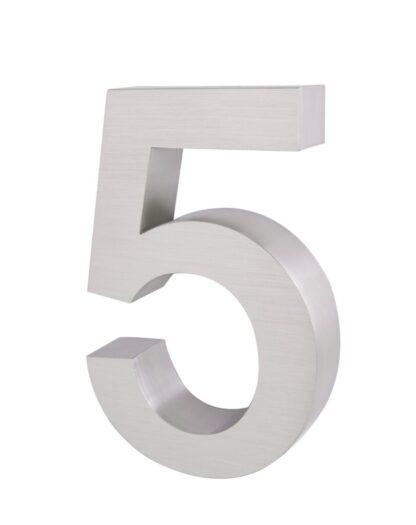 3D Huisnummer rvs 5