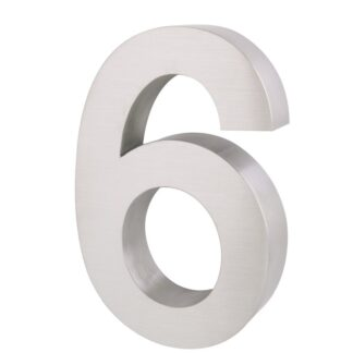 3D Huisnummer rvs 6