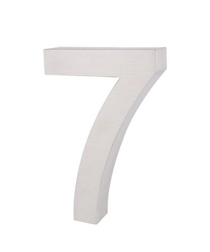 3D Huisnummer rvs 7