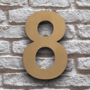 Goud Huisnummer 8 RVS 15 cm