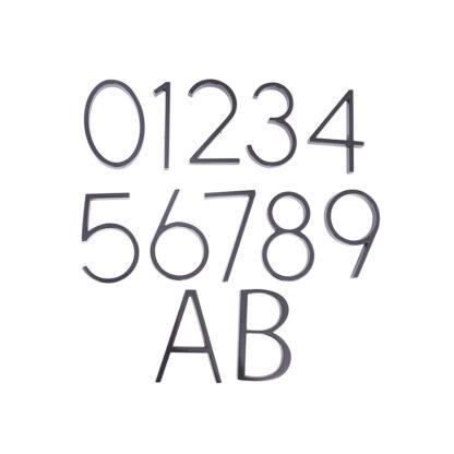 huisnummer en letters zwart 125mm