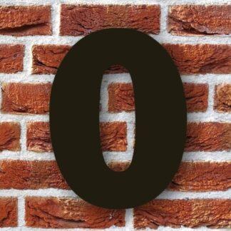huisnummer 0 zwart 15cm franklink gothic dikgedrukt industrieel