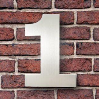 huisnummer 1 rvs verdana 15cm roestvast staal