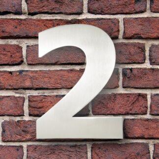huisnummer 2 rvs verdana 15cm roestvast staal