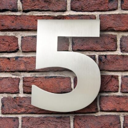 huisnummer 5 rvs verdana 15cm roestvast staal