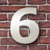 huisnummer 6 rvs verdana 15cm roestvast staal