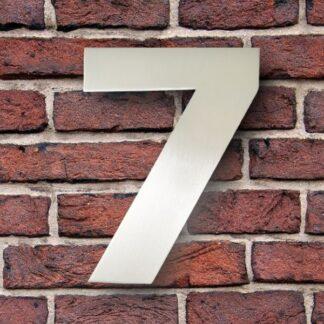 huisnummer 7 rvs verdana 15cm roestvast staal