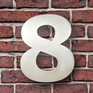 huisnummer 8 rvs verdana 15cm roestvast staal