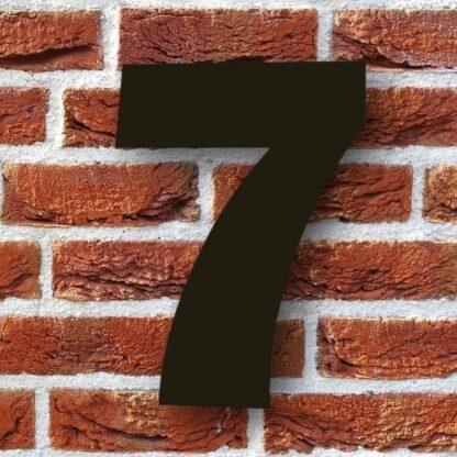 huisnummer 7 zwart 15cm franklink gothic dikgedrukt industrieel