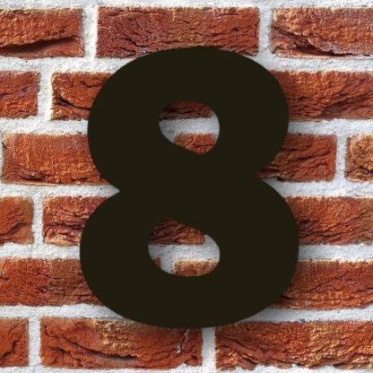 huisnummer 8 zwart 15cm franklink gothic dikgedrukt industrieel