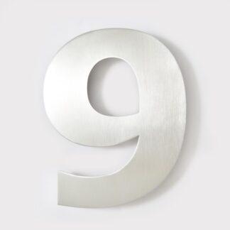 huisnummer 9 rvs verdana 15cm roestvast staal