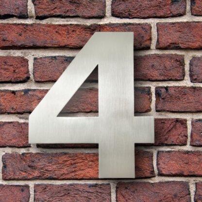 huisnummer 4 rvs verdana 15cm roestvast staal