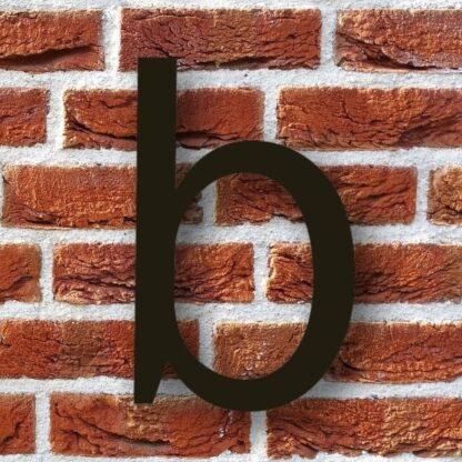 huisnummer b zwart