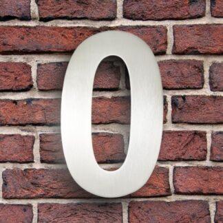huisnummer 0 rvs roestvast staal goedkoop