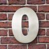 huisnummer 0 rvs Franklin Gothic 15cm opvallend roestvrij staal