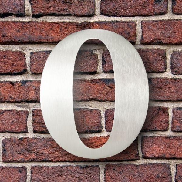 huisnummer 0 rvs georgia 15cm roestvast staal