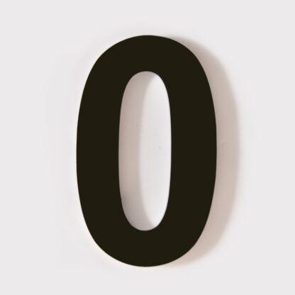 huisnummer 0 zwart 15cm 20cm