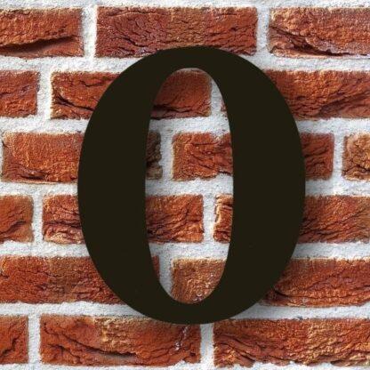 huisnummer 0 zwart sierlijk