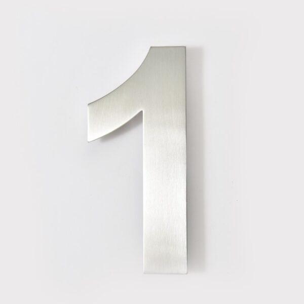 huisnummer 1 rvs 15cm 20cm roestvast staal goedkoop