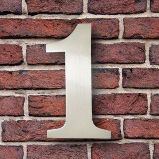 huisnummer 1 rvs georgia 15cm roestvast staal