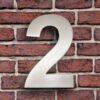 huisnummer 2 rvs roestvast staal goedkoop