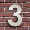 huisnummer 3 rvs roestvast staal goedkoop