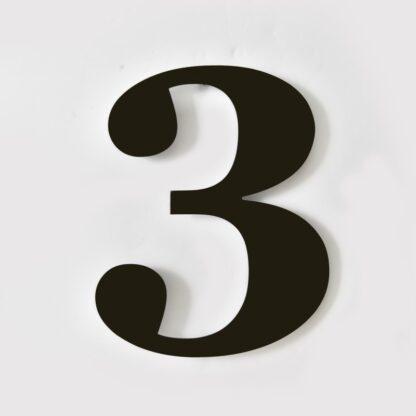 huisnummer 3 zwart georgia 15cm