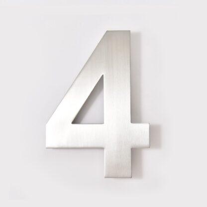 huisnummer 4 rvs 15cm 20cm roestvast staal goedkoop