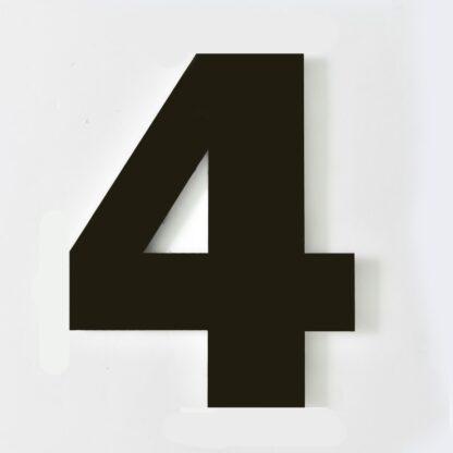 huisnummer 4 zwart 15cm Franklin Gothic industrieel