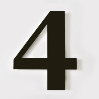 huisnummer 4 zwart georgia 15cm
