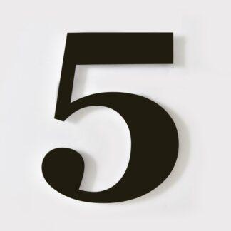huisnummer 5 zwart georgia 15cm