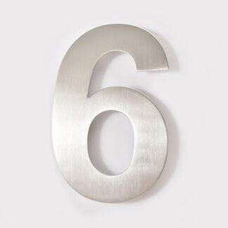 huisnummer 6 rvs 15cm 20cm roestvast staal goedkoop
