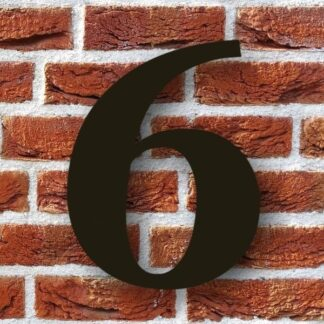 huisnummer 6 zwart modern