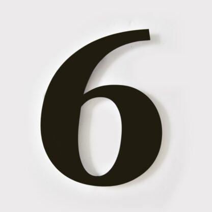 huisnummer 6 zwart georgia 15cm