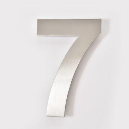 huisnummer 7 rvs 15cm 20cm