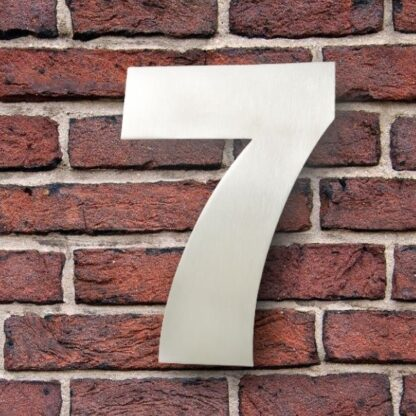 huisnummer 7 rvs Franklin Gothic 15cm opvallend roestvrij staal