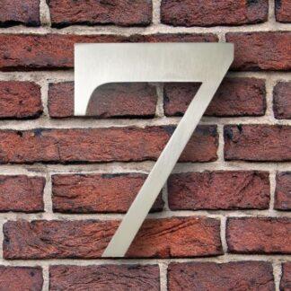 huisnummer 7 rvs georgia 15cm roestvast staal