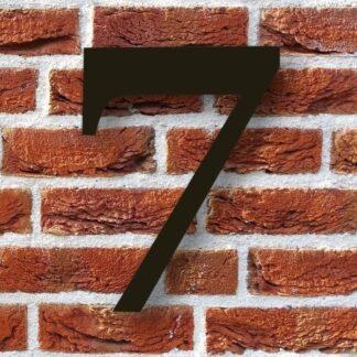 huisnummer 7 zwart modern