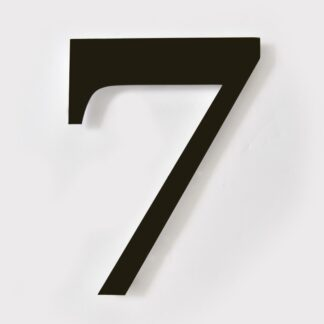 huisnummer 7 zwart georgia 15cm