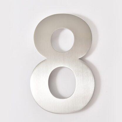 huisnummer 8 rvs 15cm 20cm roestvast staal goedkoop