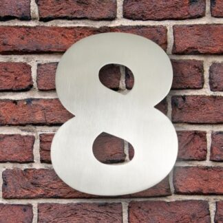 huisnummer 8 rvs Franklin Gothic 15cm opvallend roestvrij staal