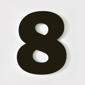 huisnummer 8 zwart 15cm Franklin Gothic industrieel