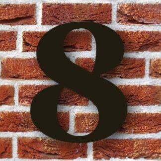 huisnummer 8 zwart modern