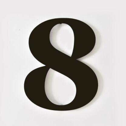 huisnummer 8 zwart georgia 15cm