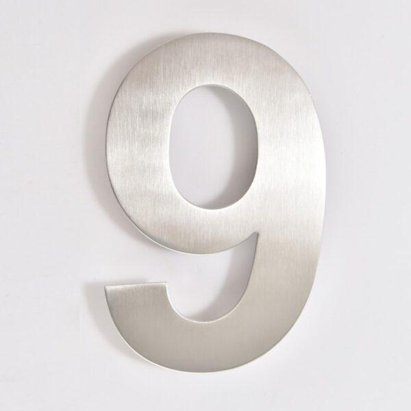 huisnummer 9 rvs 15cm 20cm roestvast staal goedkoop